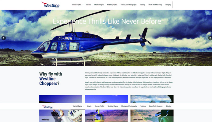 westline-aviation web design